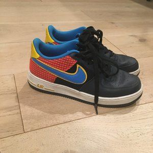 Nike Air Force One Blue/Yellow/Red